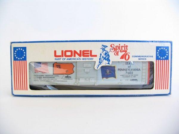 1011: Lionel Spirit of '76 Pennsylvania Box Car 6-7602