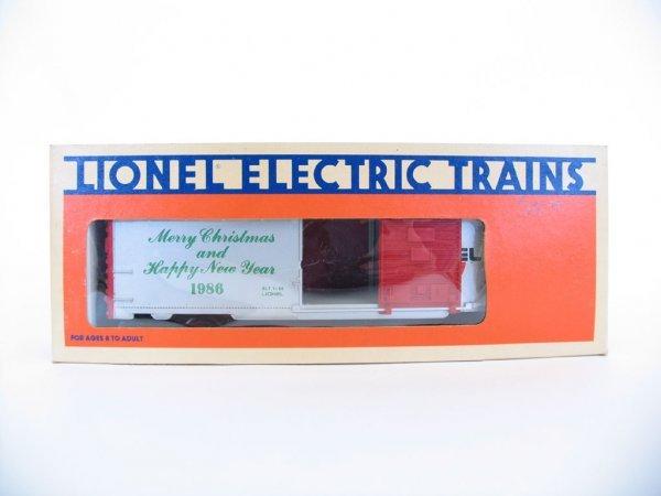 1021: Lionel 1986 Christmas Car 6-9491, Orig. Box