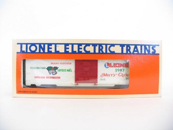 1022: Lionel 1987 Christmas Car 6-19903, Orig. Box