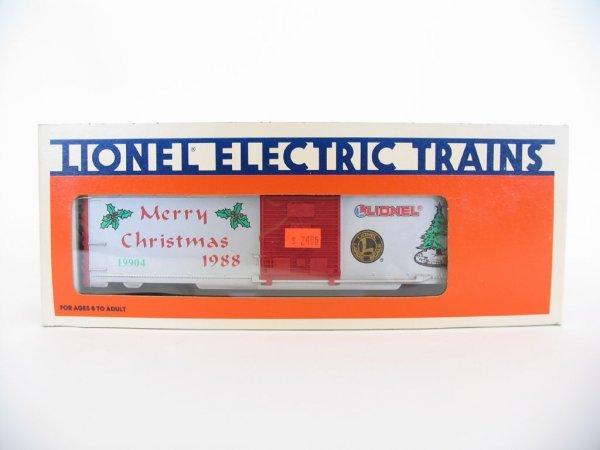 1023: Lionel 1988 Christmas Car 6-19904, Orig. Box