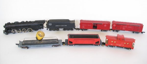 1130: American Flyer Lines Train Set, Cars, Track