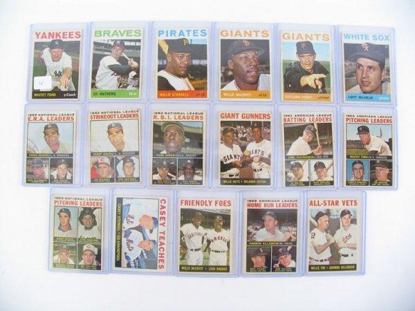 2004: 1964 Topps Hall of Fame Baseball Card Grouping