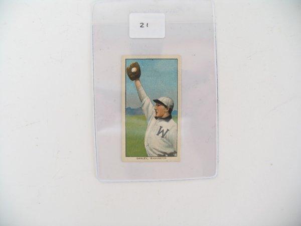 2021: Ganley Washington T206  Tobacco Card