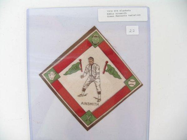2022: Eddie Ainsmith 1914 B18 Tobacco Blanket