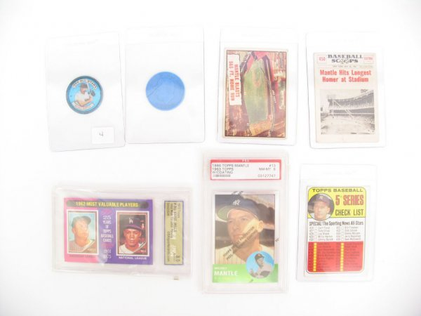 4: Mickey Mantle Vintage Collection (7) Items