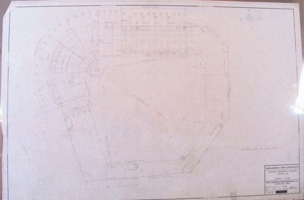 10: Reading Phillies 1947 Architectural Drawing