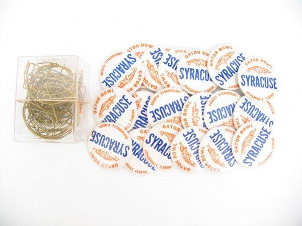 14: Syracuse University Orangemen Football Pins