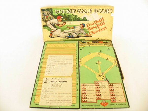 15: Football, Baseball & Checkers Board Game