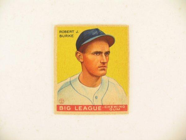 57: Robert J. Burke 1934 World Wide Gum Card