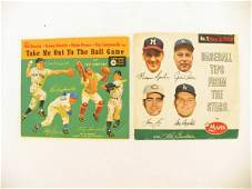 544: Vintage Baseball Records (2) with Original Covers
