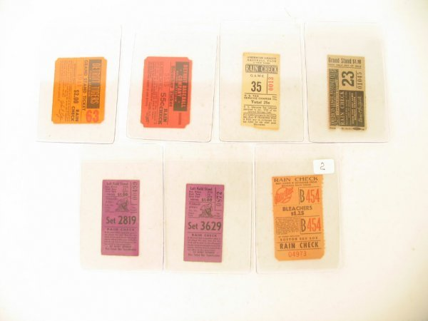 1002: 1920's-40's Vintage Baseball Ticket Collection