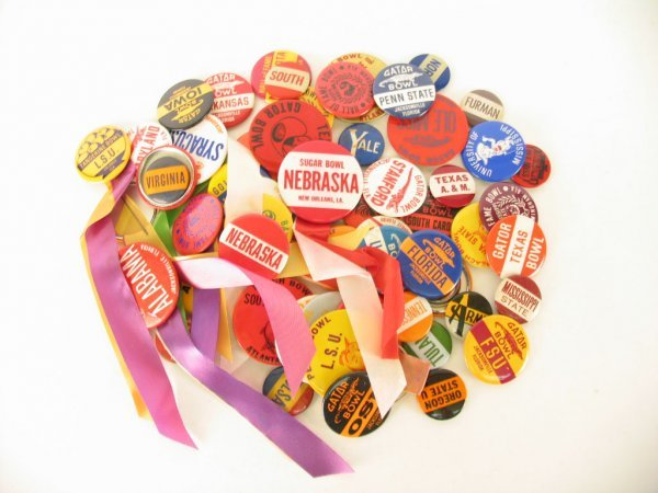 1003: INCREDIBLE College Football Buttons & Pins