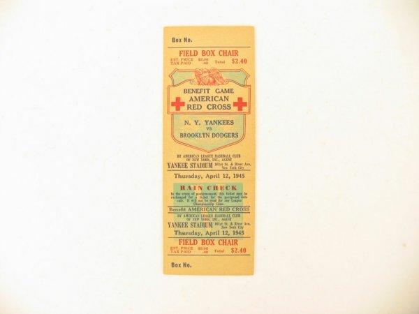 1006: N. Y. Yankees vs. Brooklyn Dodgers Full Ticket