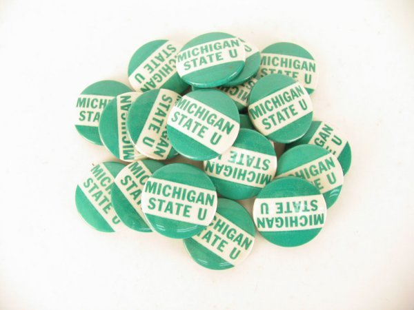 1008: Michigan State Spartans Football Buttons