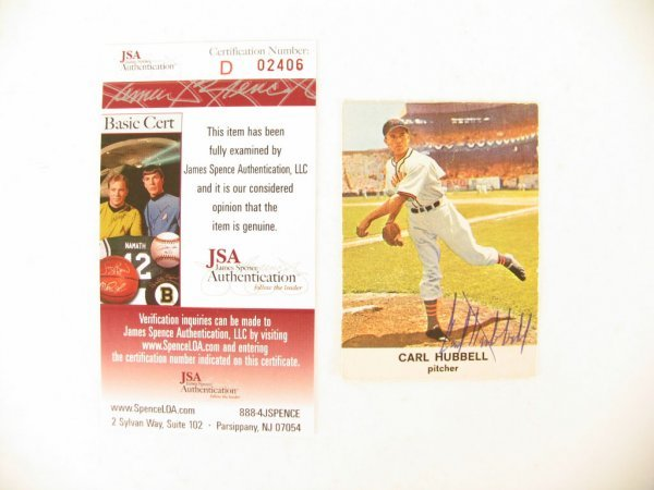 1009: Carl Hubbell Autographed 1961 Golden Press