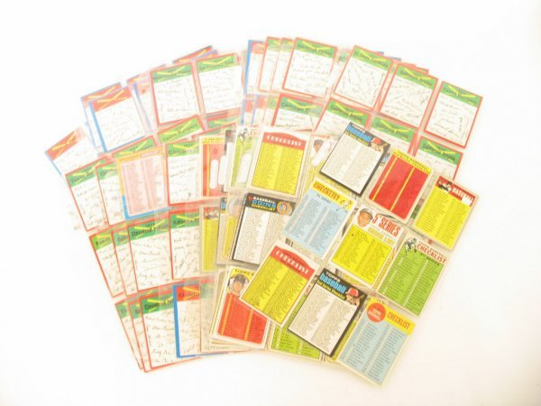1010: Vintage Topps Baseball Checklist Collection