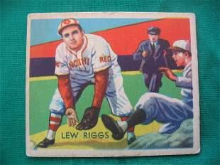Lew Riggs 1934 Diamond Stars Baseball Card