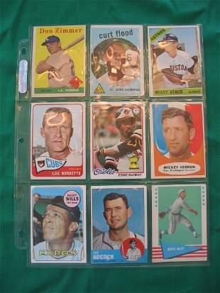 Full Sheet Full of Vintage Baseball Hall of Famers &
