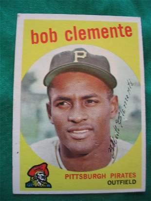 Roberto Clemente 1959 Topps Baseball Card