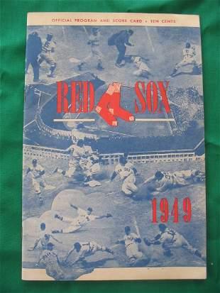 Boston Red Sox vs. Chicago White Sox 1949 Program