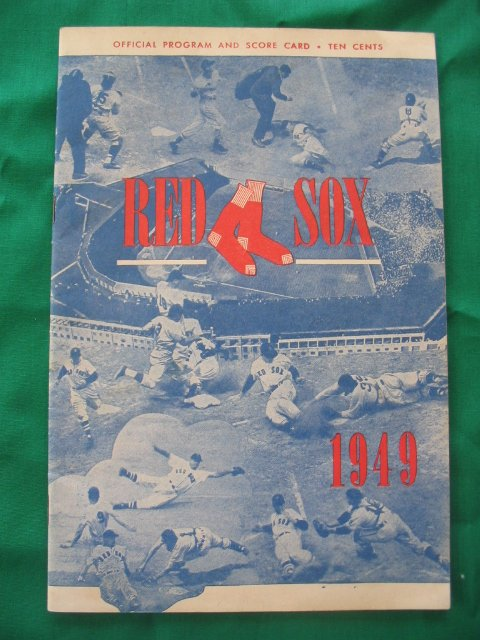 7: Boston Red Sox vs. Chicago White Sox 1949 Program