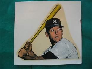 Mickey Mantle 1954 New York Yankees Bat Decal
