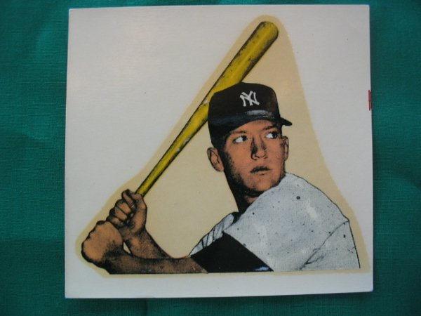 8: Mickey Mantle 1954 New York Yankees Bat Decal