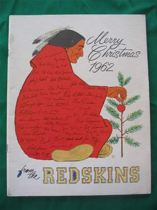 Redskins vs. Steelers 1962 Football Game Program EX