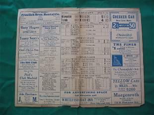 Milwaukee vs. Toledo April 20, 1931 Score Card