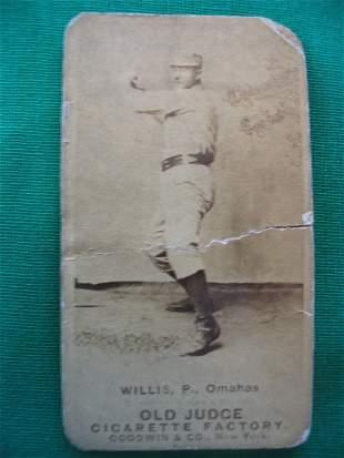 Spikes Willis 1887 Old Judge Cigarettes Baseball Ca