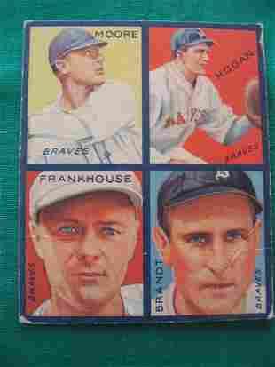 Fred Frankhouse 1935 Goudey Card