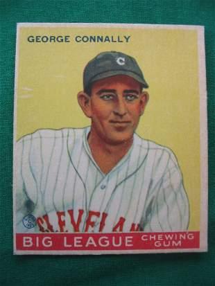 George Connally 1933 Goudey Baseball Card
