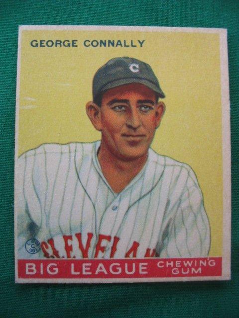 20: George Connally 1933 Goudey Baseball Card