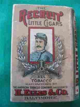 Recruit Little Cigars Tobacco Pack c. 1910
