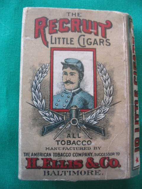 21: Recruit Little Cigars Tobacco Pack c. 1910