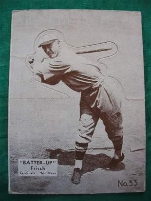 Frankie Frisch 1934-36 Batter-Up Baseball Card