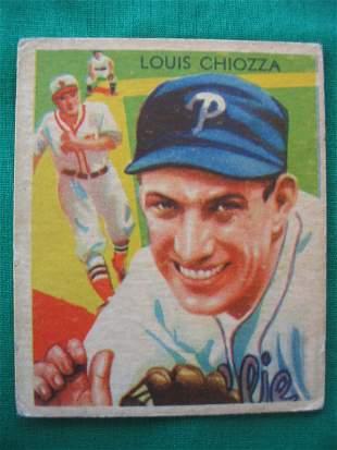 Louis Chiozza 1934 Diamond Stars Baseball Card