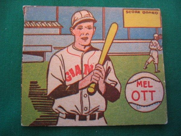 185 Mel Ott 1943 Mp Co R302 1 Baseball Card