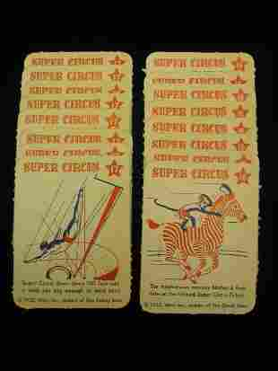 (16) 1952 Mars Candy Super Circus Cards