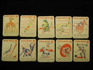 (10) 1952 Mars Candy Super Circus Cards