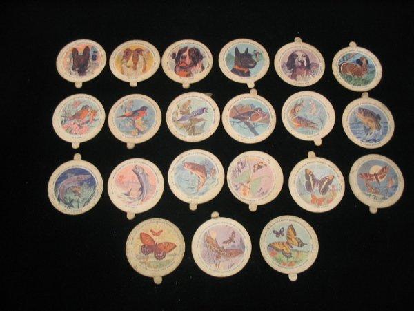 4015: Set of Dixie Animal Ice Cream Lids