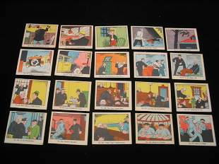 (44) Dick Tracy Carmels Trading Cards