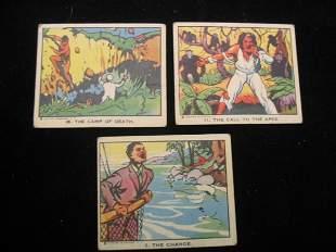 (3) Tarzan Trading Cards, 1930's