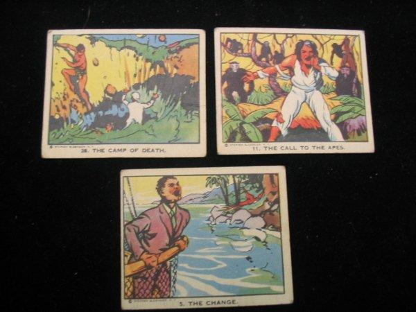 4018: (3) Tarzan Trading Cards, 1930's