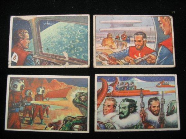 4019: (4) Bowman Gum Spacemen Trading Cards