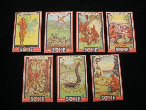 4020: (7) 1933 Boy Scouts Goudey Gum Cards