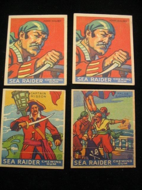 4028: (4) 1933 Sea Raider Chewing Gum Cards