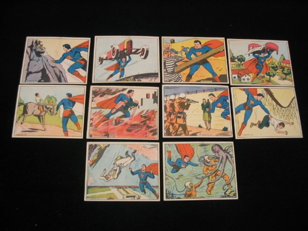 4059: (10) 1940 Superman Gum Cards by Gum Inc.