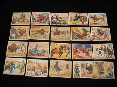 4062: (41) 1930's Wild West Series Pic. Puzzle Cards
