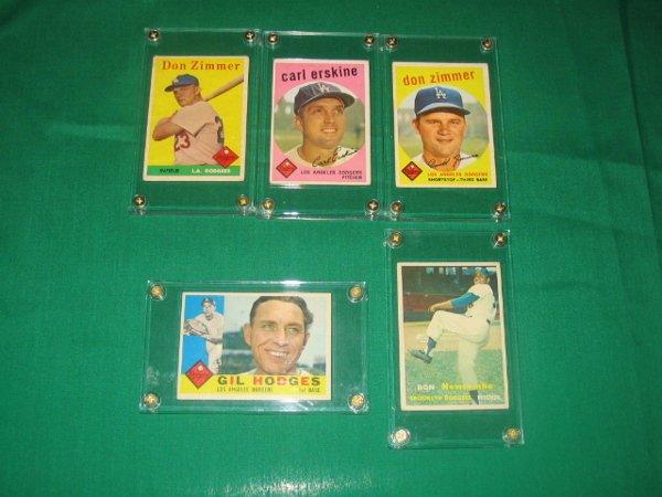 1003: Vintage Brooklyn Dodger Player Baseball Cards